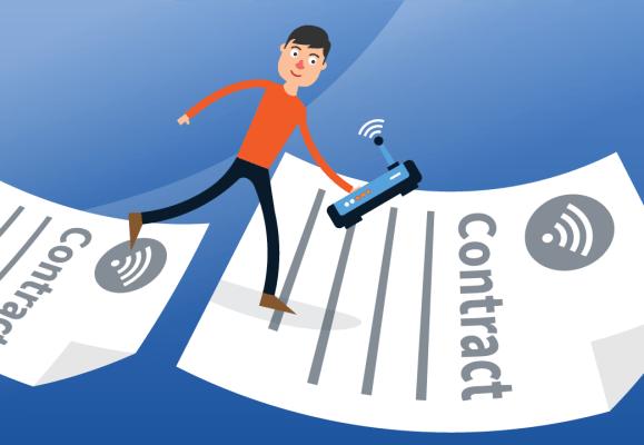 Hoe werkt overstappen naar een andere internetprovider