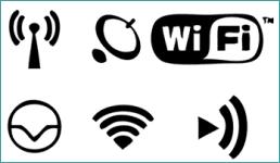 Verschillende wifi-symbolen