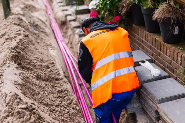 Aanleg van glasvezelaansluitingen door T-Mobile