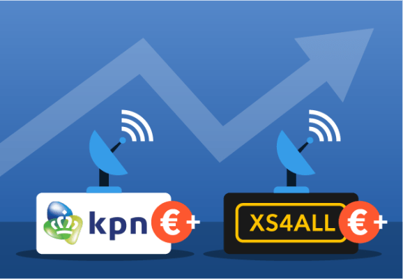 Prijsverhogingen KPN en Xs4all per juli 2021