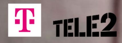 Logo van Tele2 en T-Mobile